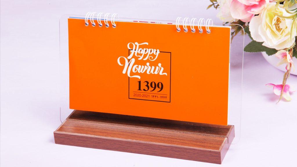 تقویم رومیزی چوبی و شیشه | تقویم رومیزی ارزان 1400 مدل مینیاتور