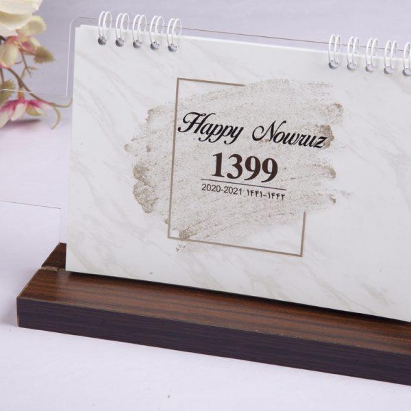 تقویم رومیزی | چاپ تقویم رومیزی | تقویم رومیزی پلکسی چوبی 1400